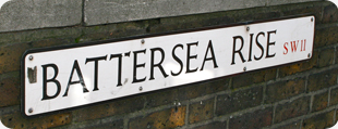 Battersea Rise street sign